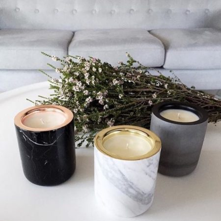 Marble candles $135 from Contents International Design